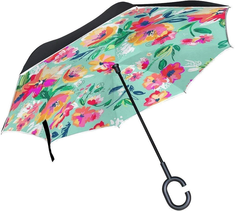 Chu warm Ingreened Umbrella Black White Koi Fish Large UV Predection Windproof Double Layer for Women Men (Light Reflecting)