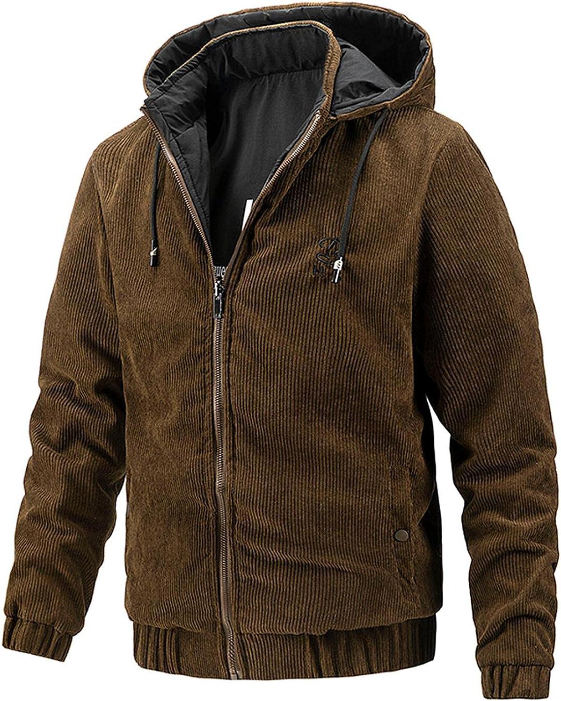 Men Coats Winter&Autumn Wear Casual Hoodes Jacket Soild Color Both Sides Pockets Designer