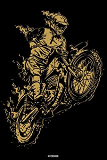 Notebook: Motocross Journal Dirt Bike Composition Book Motorcycle Biker logbook Birthday gift
