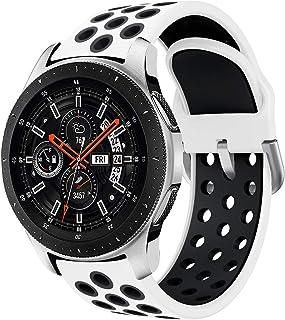 Syxinn Kompatibel med 22 mm rem Galaxy Watch 3 45 mm/Galaxy Watch 46 mm/Gear S3 Frontier/Classic Band Band Silikon Armband...