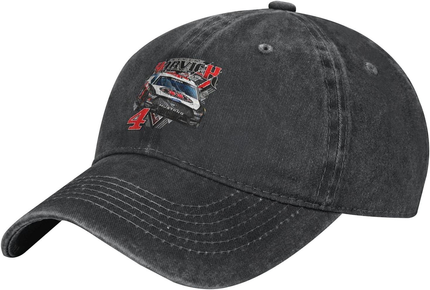GAiNViEW Kevin Harvick Denim Cap Adjustable Plain Baseball Cowboy Hat Cotton Sunbonnet Plain Hat Black