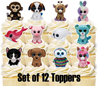 12 Cupcake Toppers Beanie Boo