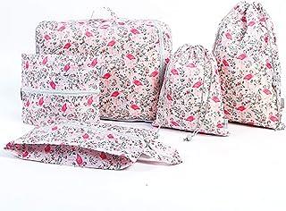 HUI JIN Lot de 5 sacs de rangement pour chaussures et bagages - Rose
