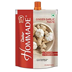 Dabur Hommade Ginger Garlic Paste - Made from Ginger & Garlic - 200 gm
