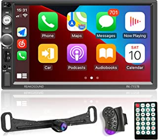 $92 » Double Din Car Stereo with Apple Carplay 7'' Touch Screen MP5 Car Radio Receiver Support Mirror Link/Bluetooth/FM/U Disk/T...