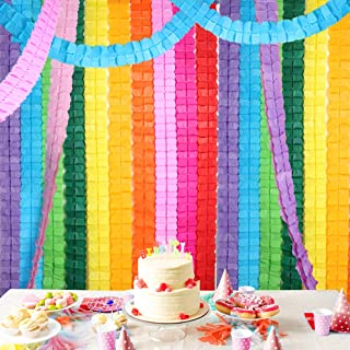 RUBFAC 10pcs Colorful Four-Leaf Clover Paper Garland Party Streamers Tissue Hanging Garland for Party Decoration