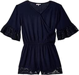 Voile Romper with Lace Trims (Big Kids)