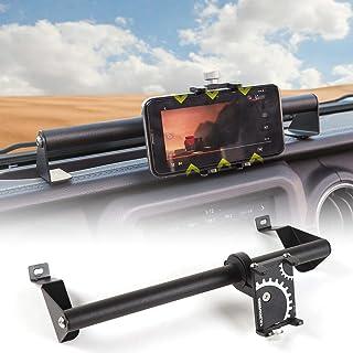 CheroCar JL JT Metal Cellphone Dash Phone Holder fits for 2018-2020 Jeep Wrangler JL, fits for 2020 Jeep Gladiator Trunk JT, Interior Accessories