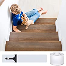 DanceWhale Antislip traptreden transparant plakband, 10 cm x 10 m, zelfklevende trapmatten, antislip, strips voor trap en ...