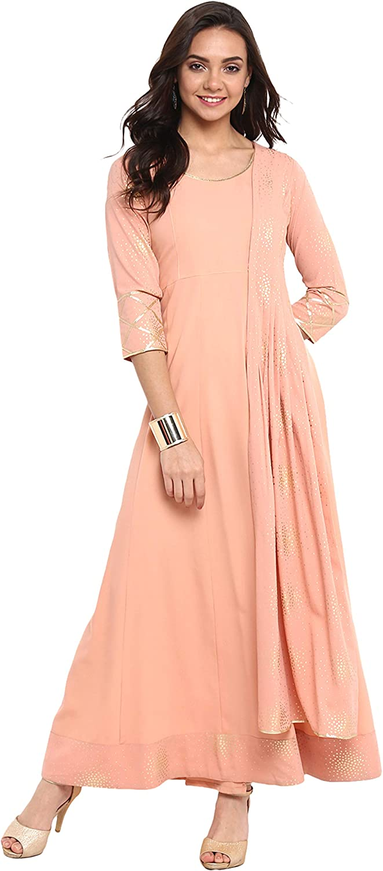 Sale Janasya Indian Tunic Tops Kurti Courier shipping free for Women Crepe