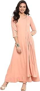 Janasya Indian Tunic Tops Crepe Kurti for Women