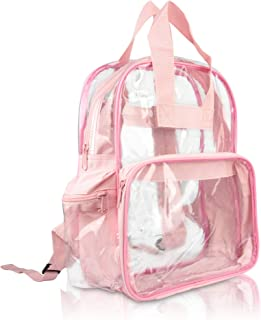 DALIX Small Clear Backpack Bag in Pink