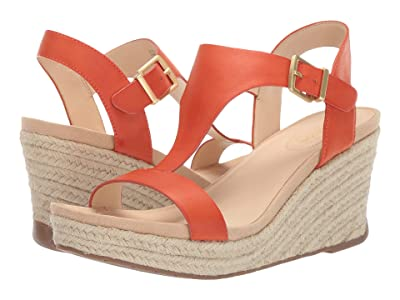 Kenneth Cole Reaction Card Wedge (Orange Smooth) Women