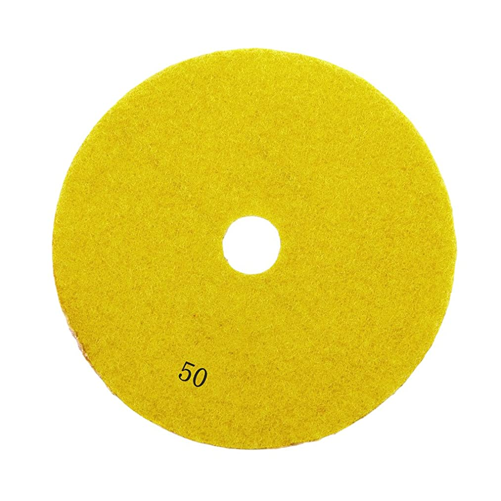 Jili Online Diamond Polishing Pads, 3inch, 4inch Wet,Dry Diamond Stone Polishing Pads Wheel Polisher Accessories/Disc Grit for Granite Marble Concrete Stone Buffing Polishing - 50#, 3''
