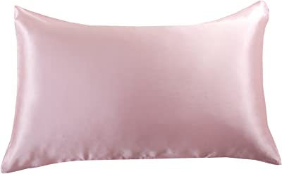 Orose 22MM Luxury Mulberry Silk Pillowcase, Good for Hair and Facial Beauty, Prevent from Wrinkle 100% Silk On Both Sides, Gift Wrap,1Pc (Queen, Pink)