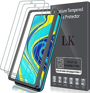 LK Protector de Pantalla para Xiaomi Redmi Note 9S / Note 9 Pro/Note 9 Pro MAX Cristal Templado, [3 Pack] [9H Dureza] [Equipado con Marco de posicionamiento] Vidrio Templado Screen Protector
