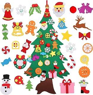 comprar comparacion Bageek árbol de Navidad de Fieltro DIY,3D Árbol de Navidad Artificial de Fieltro DIY Fieltro Árbol de Navidad para Niños D...