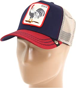 c4b8d37a Navy All American Rooster. 177. Goorin Brothers. Animal Farm Snap Back  Trucker Hat