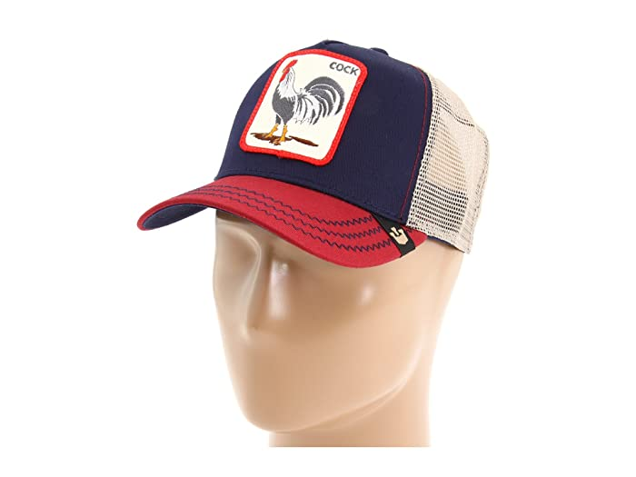 Goorin Brothers  Animal Farm Snap Back Trucker Hat (Navy All American Rooster) Caps