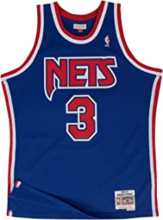 Drazen Petrovic New Jersey Nets Mitchell and Ness Men's Blue Throwback Jesey