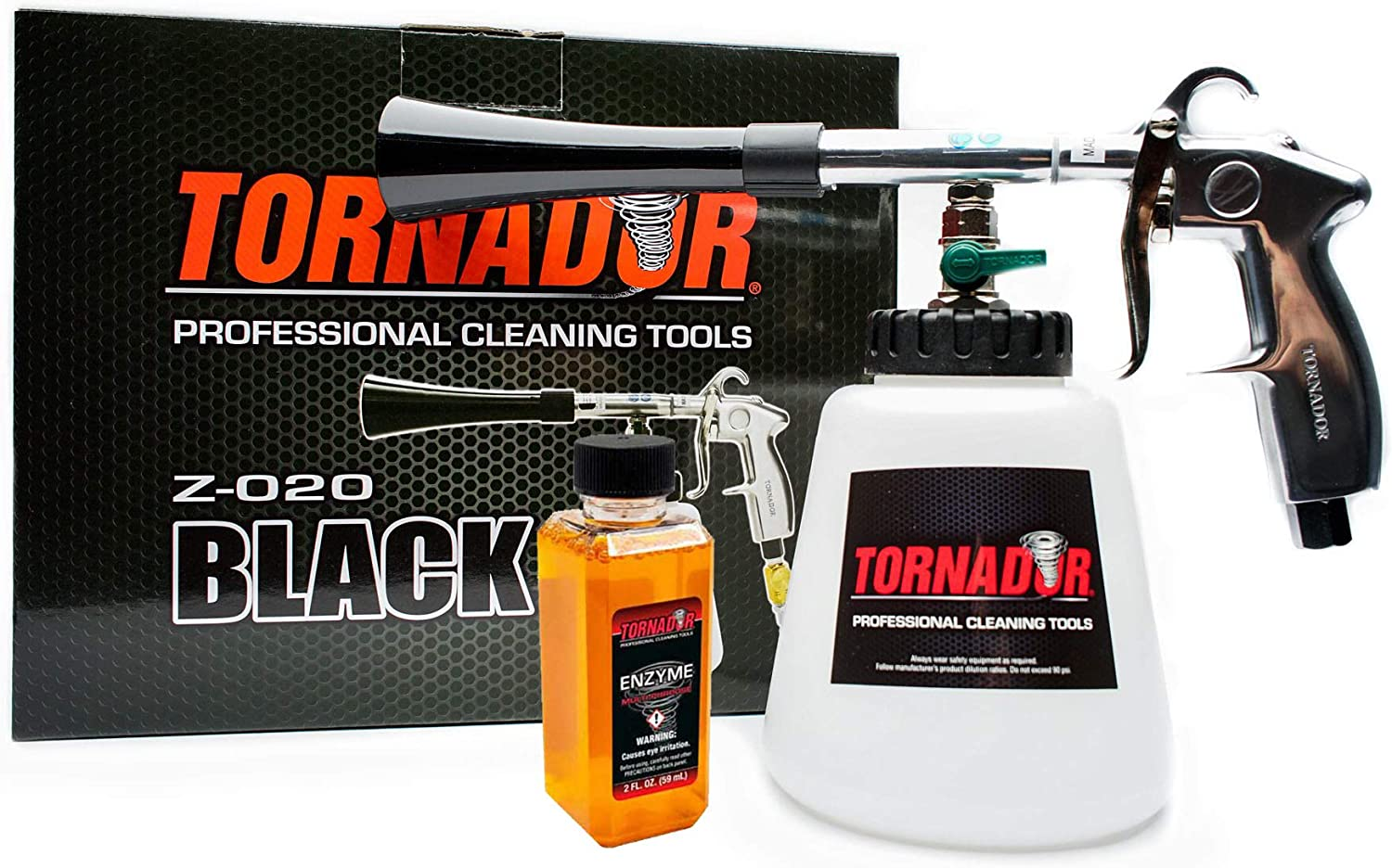 Tornador Z-020 New Orleans Mall Black Professional Cleaning Kit with Starter Gun Max 42% OFF