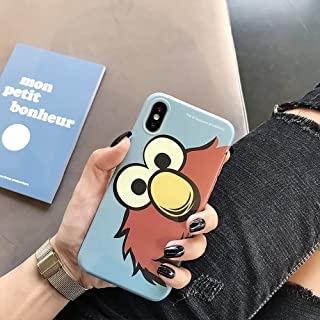 iPhone CASE-Cartoon Little Monster Mobile Phone Shell Cute Cookie Strange Creative All-Inclusive Anti-Fall Protective Shell (Color : Blue, Size : iPhone 6/6s)