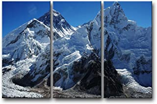 So Crazy Art 3 Pieces Wall Art Painting Mount Everest Glacier Mountain Prints On Canvas The Picture Landscape Pictures Oil For Home Modern Decoration Print Decor For Furniture
