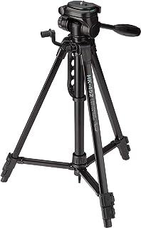 【Amazon限定ブランド】 HAKUBA 三脚 HK-452 アルミ製 3段 レバー式 全高1,340mm 3way雲台 収納ケース付き ブラック AMZHK452