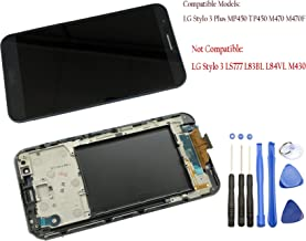 Eaglestar TP450 Full LCD Assembly Touch Screen Digitizer LCD Pre-Installed Replacement Frame LG Stylo 3 Plus MP450 TP450 M470 M470F+Tools