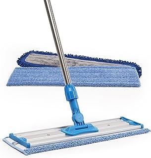 "18"" Professional Microfiber Mop | Stainless Steel Handle | 3 Premium Mop Pads + 2 FREE Microfiber Cloths"