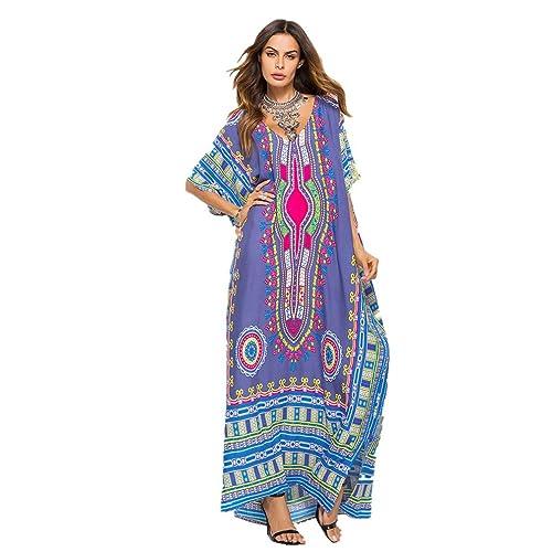 finest selection 79288 6932a Caftano Donna Elegante: Amazon.it