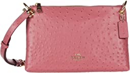 COACH Ostrich Mia Crossbody,Rouge