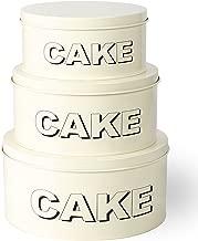 3piezas Shabby Chic Metal para tartas magdalenas de almacenamiento contenedores pequeño–tamaño mediano–tamaño grande para tartas contenedor Set