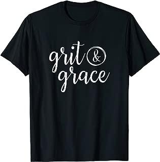 Grit & Grace Distressed Vintage Text T Shirt