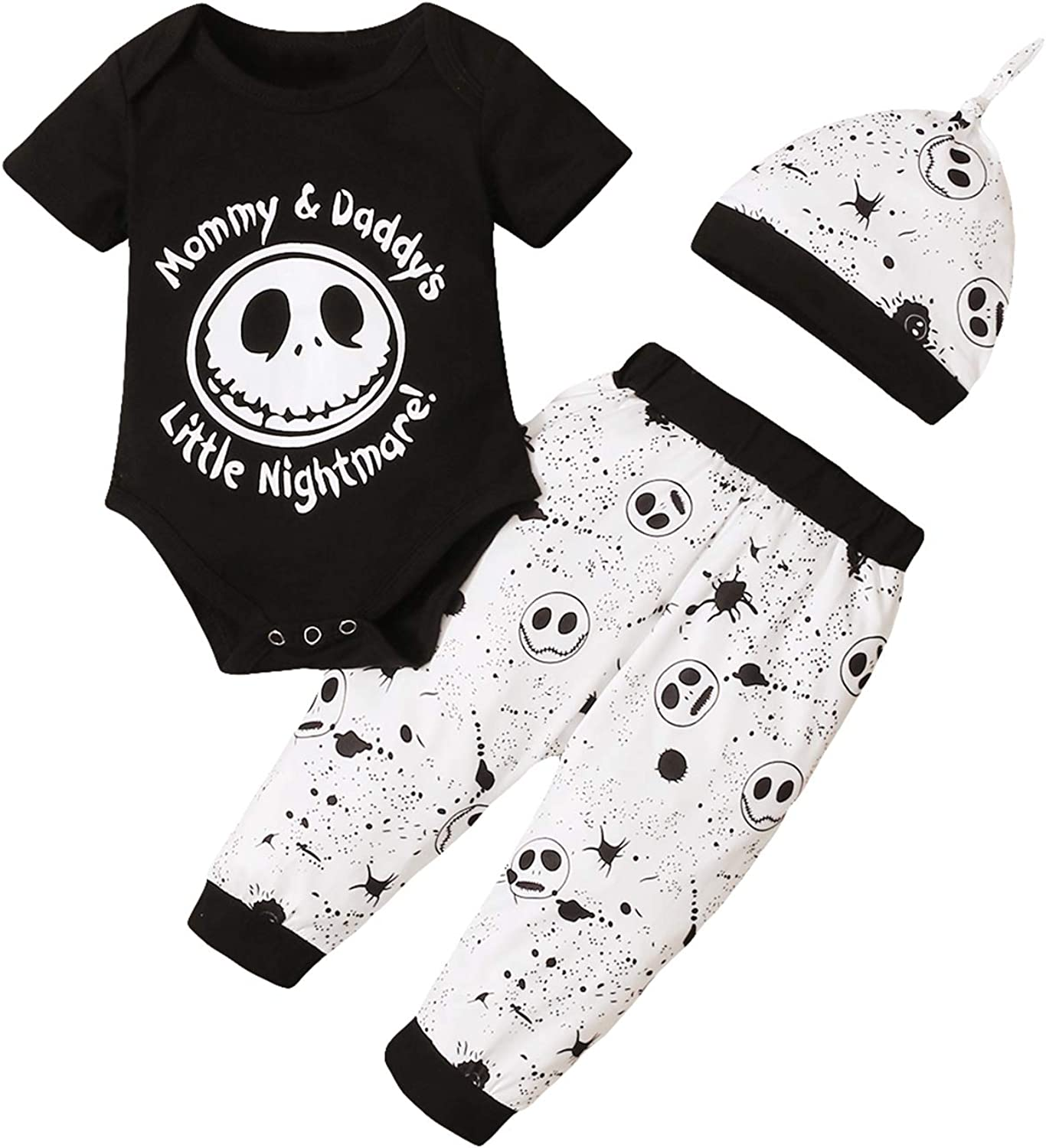 Dramiposs Baby Boy Halloween Outfits Infant Nightmare Before Christmas Clothes