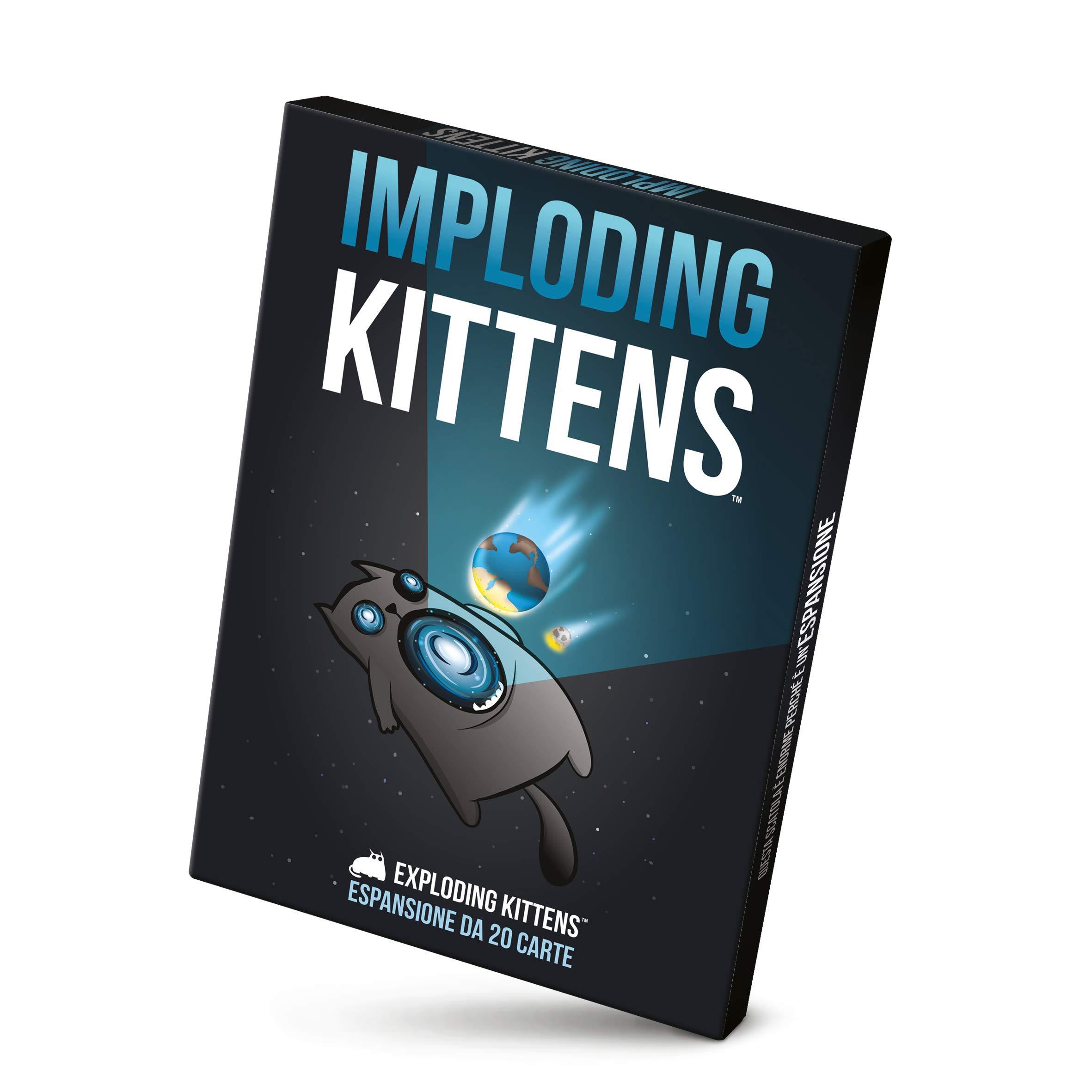 Asmodee- Imploding Kittens-expansión Juego de Mesa edición en Italiano (8542 Italia), Color: Amazon.es: Juguetes y juegos