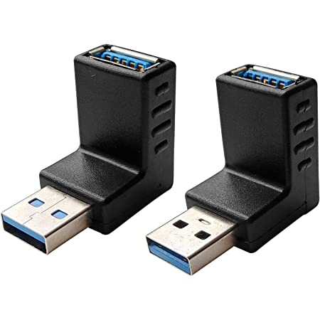 Posdou USB 3.0 Male to Female 90 Degree Right Angle Extension Adapter, USB Upward and Downward Connector