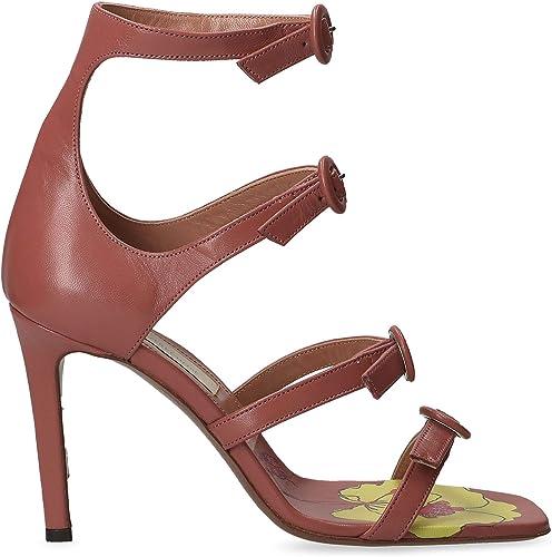 L& 039;Autre Chose Damen LDJ08310CP26158033 Braun Leder Sandalen