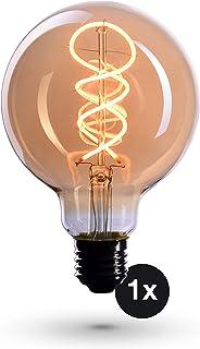 Ampoule Crown LED Edison | Douille E27, Dimmable, 4 Watts, 2200k, Lumière blanche, 230 Volts, EL19 | éclairage à filament ...
