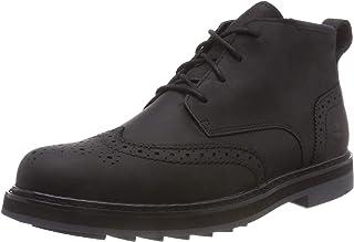 حذاء رجالي من Timberland مطبوع عليه Squall Canyon مقاوم للماء بلون بني داكن