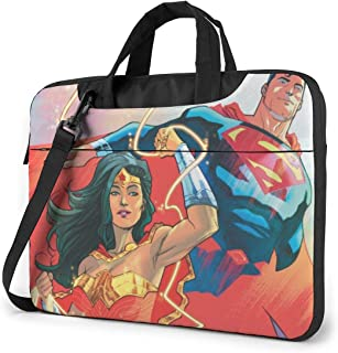 Super Man Wonder Woman Laptop Shoulder Messenger Bag Case Sleeve for 13 Inch 14 Inch Laptop Case Laptop Briefcase 15.6 Inch