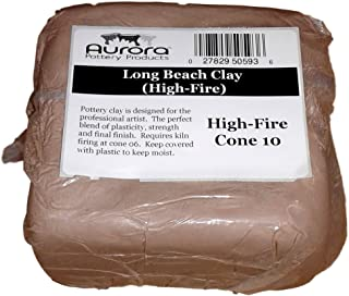 Aurora Pottery - Long Beach Clay (High-Fire) - Cone 10 -Fires to a Beautiful Warm Brown with a Medium Texture. (50 Pounds)