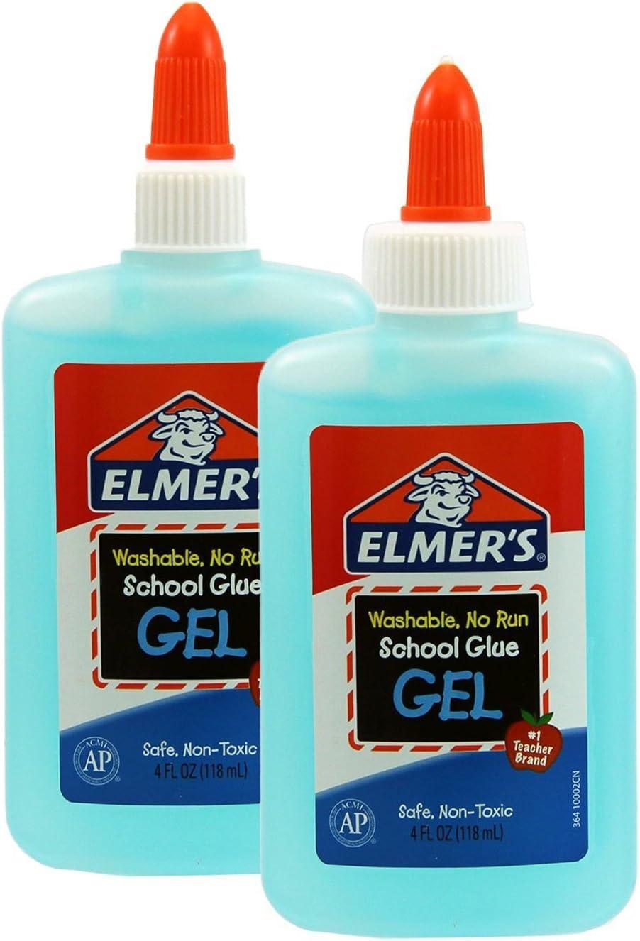 Elmers Washable No Run Gel School Glue (Pack of 2)