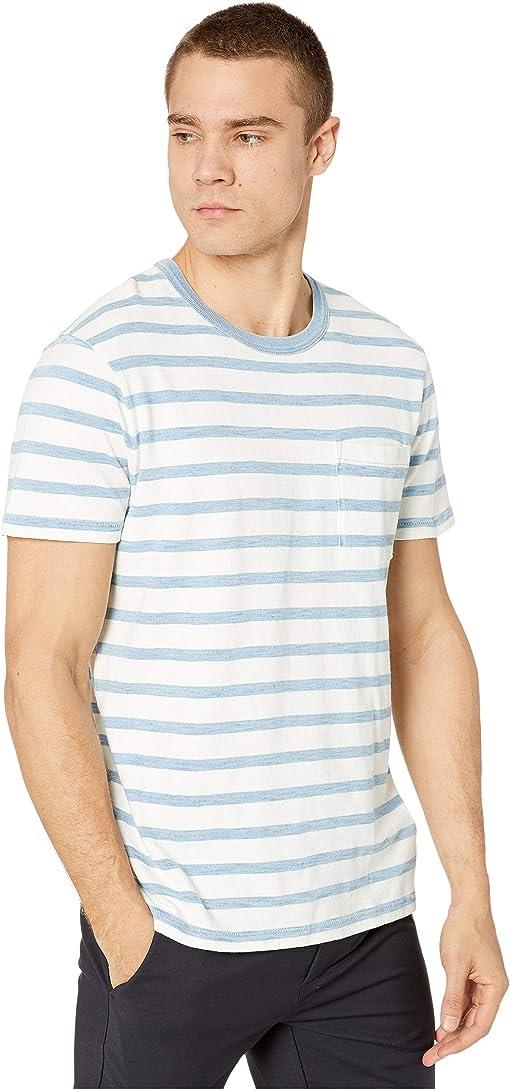 White Indigo Columbia Stripe