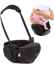 La Luce ヒップシート 抱っこ紐 キャリア 赤ちゃん ベビーシート 滑り止め ウエスト ポーチ 収納 肩紐 腰ベルト 調整