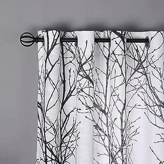 Fmfunctex Black White Sheer Curtains for Halloween Living-Room 96