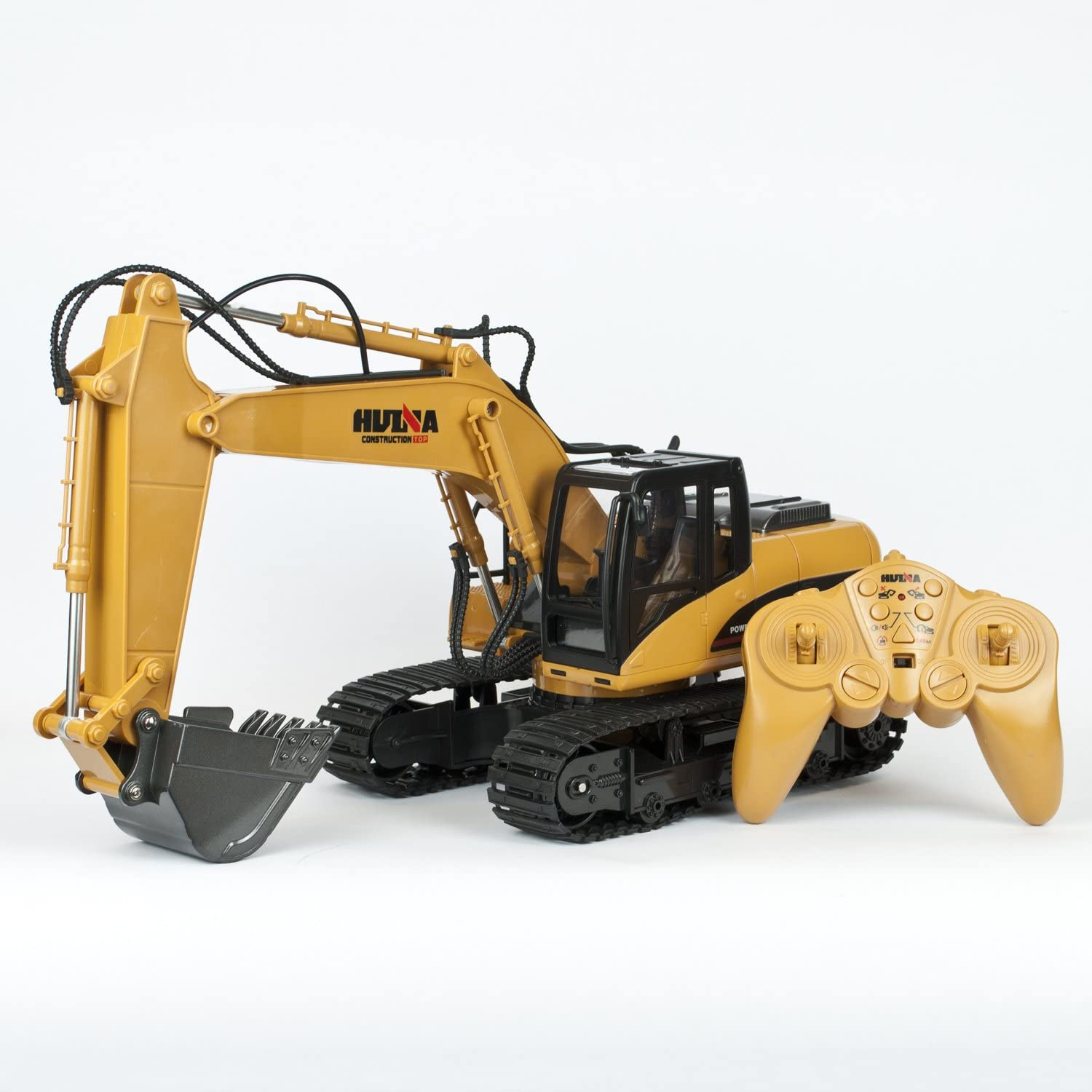 TekBox 15 Channel RC Remote Control Excavator Digger 2.4Ghz Fully Functional Battery Powered Construction Toy 1 14 Scale