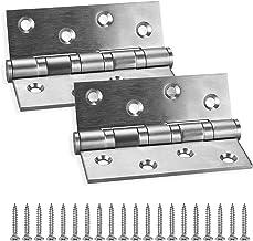 KWOKWEI 2 stuks scharnieren roestvrij staal, 304 roestvrij stalen deurscharnieren met 8 stuks schroeven, woonmeubel, hardw...