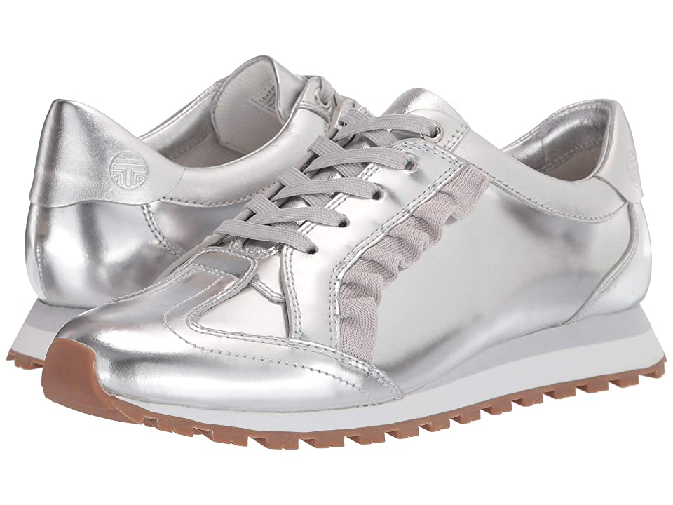 Tory Sport Ruffle Trainer (Silver/Gray/Gray) Women