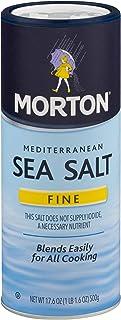 Morton Fine Mediterranean Sea Salt 17.6 oz. (pack of 2)